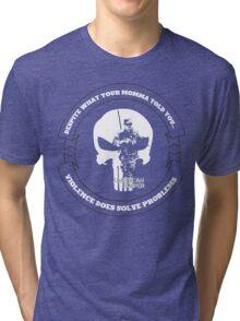 AMERICAN SNIPER CRAFT C.R.A.F.T. VIOLENCE SOLVE PROBLEMS DARK Tri-blend T-Shirt
