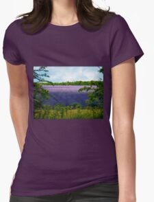 Summertime Lavender Womens Fitted T-Shirt