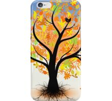 Colorful autumn tree iPhone Case/Skin