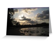 silver beach sunset Greeting Card