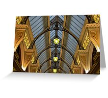 Melbourne Block Arcade Arches Greeting Card
