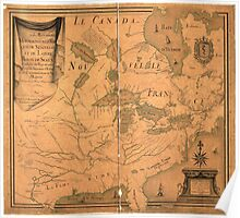 French Map of North America by J. B. L. Franquelin (1685) Poster