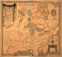 French Map of North America by J. B. L. Franquelin (1685) Photographic Print