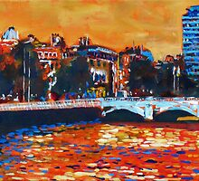 O'Connell Bridge & Liberty Hall, Dublin by eolai