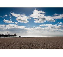 Brighton pier with blue skies Photographic Print