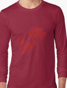 Rooster Teeth brush stroke  Long Sleeve T-Shirt