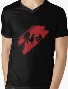 Rooster Teeth brush stroke  Mens V-Neck T-Shirt