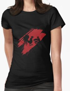Rooster Teeth brush stroke  Womens Fitted T-Shirt