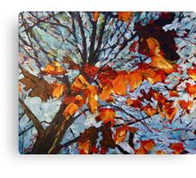 Golden Leaves 1 Canvas Print
