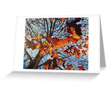 Golden Leaves 1 Greeting Card