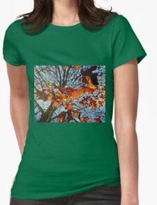 Golden Leaves 1 Womens Fitted T-Shirt