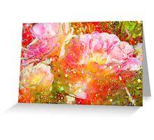 Lovely Tulips & Green. Greeting Card