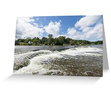 Waterfalls on the Mississippi Greeting Card