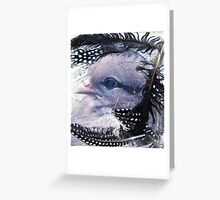 Chick Mixed Media Canvas Greeting Card