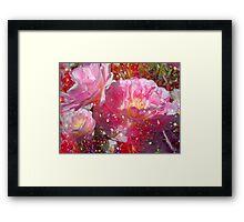 Lovely Tulips & Pink. Framed Print
