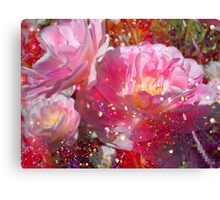 Lovely Tulips & Pink. Canvas Print