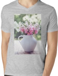 Snapdragon flowers Mens V-Neck T-Shirt