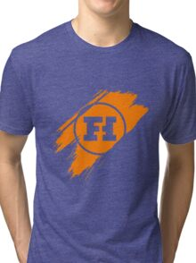 Funhaus brush stroke Tri-blend T-Shirt