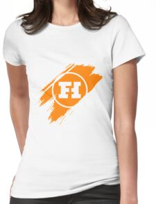Funhaus brush stroke Womens Fitted T-Shirt