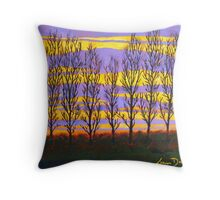 Poplar Sunset Throw Pillow