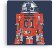 R2 E Lee - General Lee & The Rebel Alliance - Rebel Droid - Live Free - 01 Canvas Print