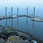 Boats in the Fog- Lubec, ME by Jason Gendron