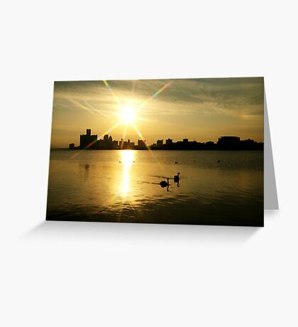 Motor City Swan Song.... Greeting Card