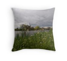 Along the Amstel Throw Pillow