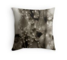 Victorian Bling in Sepia Throw Pillow