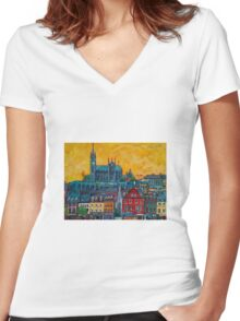 Cobh 2 - Cork Women's Fitted V-Neck T-Shirt