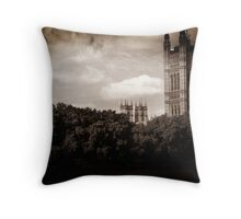 Victoria Tower Throw Pillow