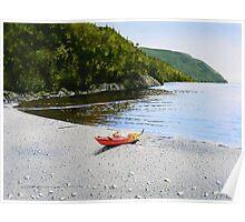 Kayak at Schreiber Beach Poster