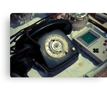 Vintage Phone & Game Boy Canvas Print