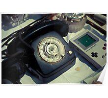 Vintage Phone & Game Boy Poster