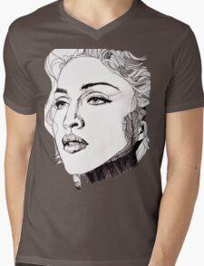 Blond Mens V-Neck T-Shirt