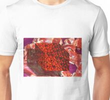 Tomato Cube Floating over Raw Meat Unisex T-Shirt