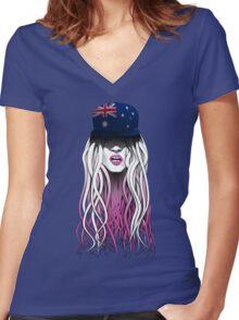 World Rebellion 2016 – AUSTRALIA Women's Fitted V-Neck T-Shirt