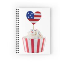 Independence day cupcakes Spiral Notebook