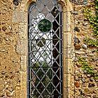 Leaded window (Barsham Church) by Karen  Betts