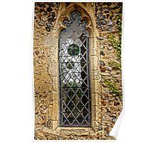 Leaded window (Barsham Church) Poster