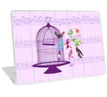 Purple Birdcage & Birds Sheet Music  Laptop Skin