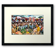 Reverence of Chariot Festivities   Framed Print