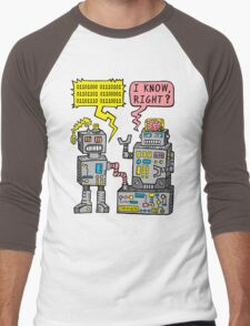 Robot Talk Men's Baseball ¾ T-Shirt