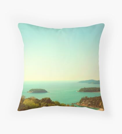 Ocean landscape Throw Pillow