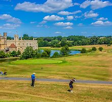Teeing Off at Leeds Castle by Chris Thaxter