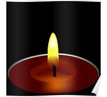 candle illustration Poster