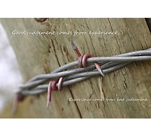 Red Barbwire experience Photographic Print