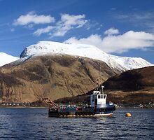 Ben Nevis and Loch Linnhe. by John Cameron