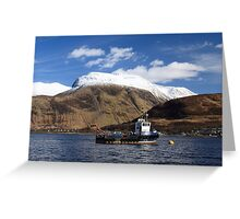 Ben Nevis and Loch Linnhe. Greeting Card