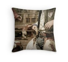 Helmville Rodeo Montana 2009 -  #132 Throw Pillow